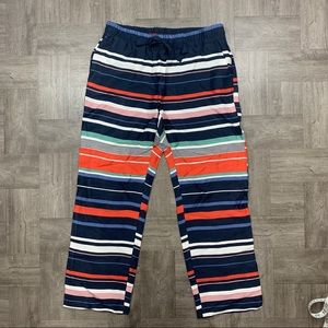 LOFT striped fluid drawstring pants